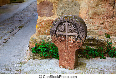 The way of Saint james sign in Pamplona Spain - The way of...