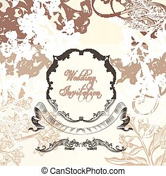 Elegant wedding or aniversary background with vintage...