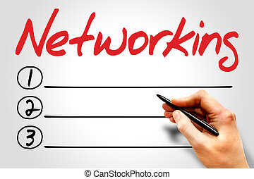 Networking blank list, business concept
