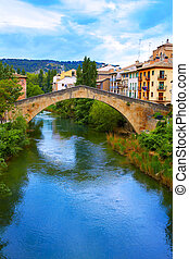 Estella bridge in Way of Saint James at Navarra Spain