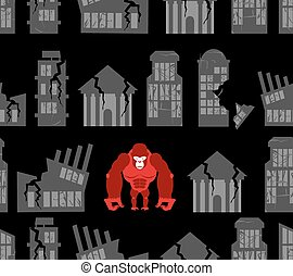 Monkey destroyer in town. Angry Gorilla broke homes and...