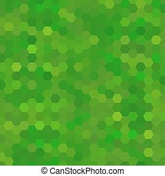 Abstract green background of hexagons