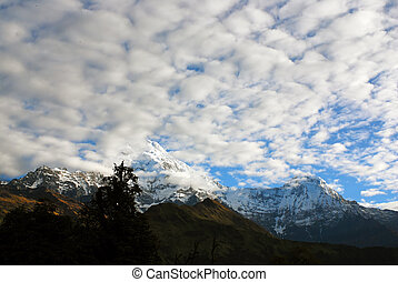 Annapurna South snow mountain landscapes
