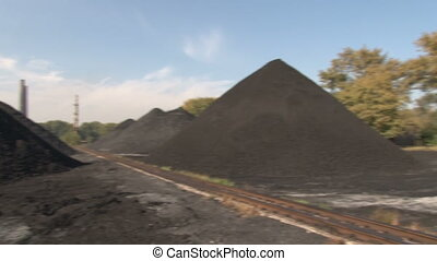 Warehouse coal in motion - Coke and Chemicals plant cooler