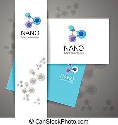 nano logo - Nano logo - nanotechnology Template design of...