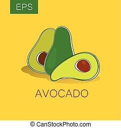 avocado - Avocado. Vector sign. Label. The idea for the...