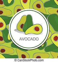 avocado - Avocado pattern. Vector. The idea for the...