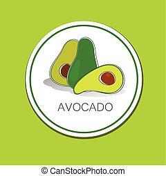 avocado - Avocado Vector sign Label The idea for the...