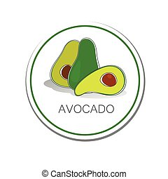 avocado - Avocado. Vector sign. Label. The idea for the...