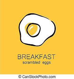 breakfast scrambled eggs - Breakfast - fried or scrambled...