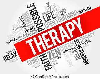 Therapy word cloud concept