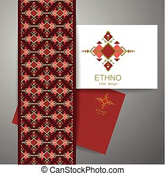 ethno tribal design - Ethno - corporate identity. Template...