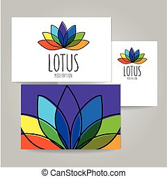 lotus meditation logo sign