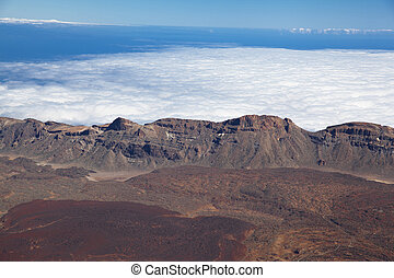 Aaerial view on the caldera