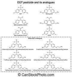 DDT, pesticida, y, su, alanogues,