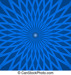 Abstract background with spiral blue rays