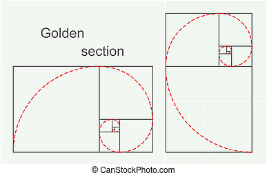 Golden section, 2d illustration, raster