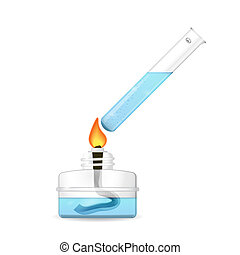 Heating of chemical test tube - Heating of chemical tube by...