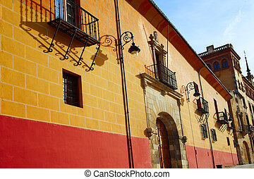 Leon Obispado facade in Plaza Regla square Spain - Leon...