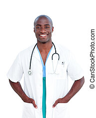 Portrait of an afro-american doctor