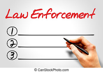 Law enforcement blank list concept