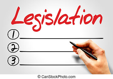 Legislation blank list, business concept