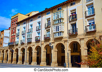 Way Saint James Logrono Arcades Mercado plaza - Way of Saint...