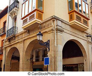 Logrono calle Portales street by Sain James Way in La Rioja