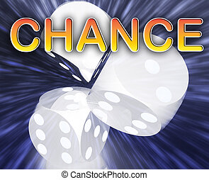 Gambling dice chance background