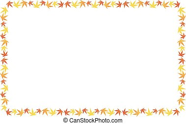 Background of the leaves of maple - Vector illustration