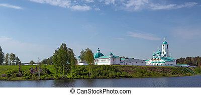 monasterio, en, Rusia,