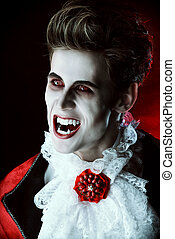 legend lord - Handsome bloodthirsty vampire Halloween...