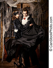 lord of vampires - Gorgeous couple of vampires dressed in...