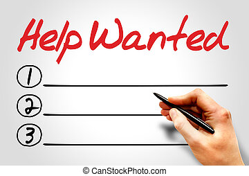 Help Wanted blank list concept
