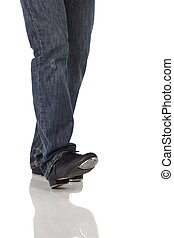 Single tap dancer - Single male tap dancer wearing jeans...