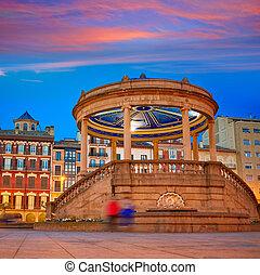 Pamplona Navarra Spain plaza del Castillo square - Pamplona...