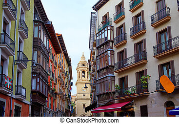 Pamplona Navarra Spain plaza del Castillo square