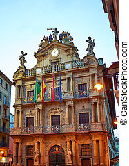 Pamplona Navarra Ayuntamiento city Hall square way of Saint...