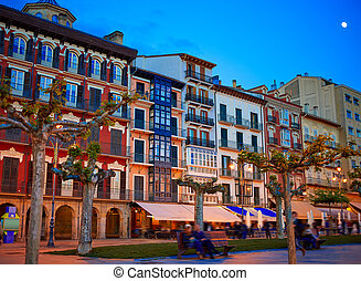 Pamplona Navarra Spain plaza del Castillo square - Pamplona...