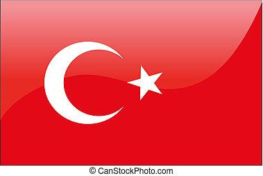 Vector Turkish flag