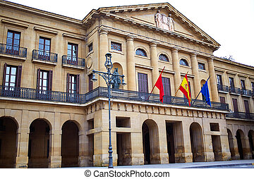 Pamplona Navarra government palace building in Spain