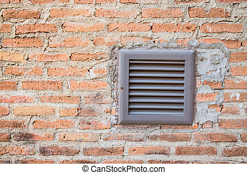 Brick wall with ventilator