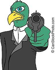bird gangster - Creative design of bird gangster