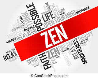 Zen word cloud concept