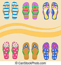 slippers - A set of vector images of slippers. Suitable for...