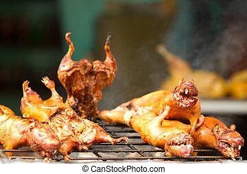 Roasted Guinea Pig Also Called Cui Traditional Food In...