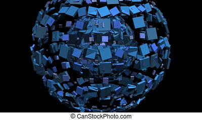 Exploding 3D world