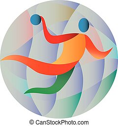 Handball Player Jumping Throwing Ball Circle - Illustration...