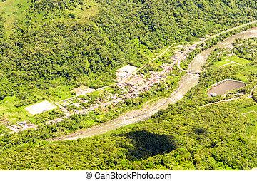 Rio Negro Tungurahua Aerial Shot - Pastaza River Passing By...