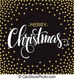 Merry Christmas lettering design Vector illustration EPS10